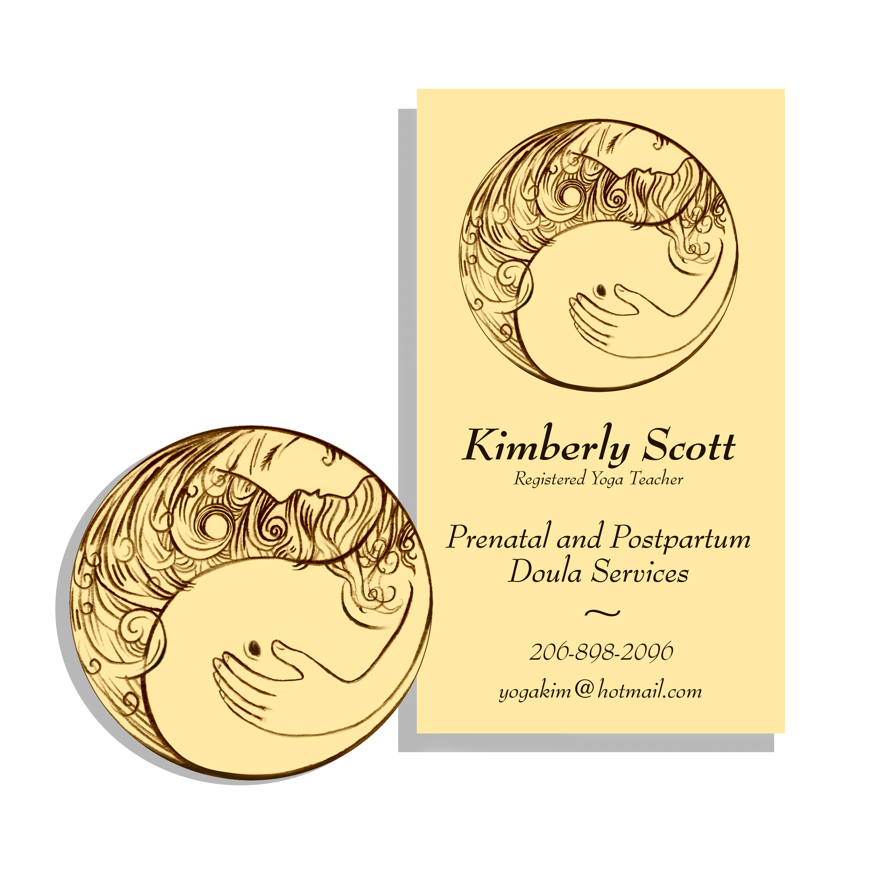 Kimberly scott business card logo design wonder parade kimberly scott business card and logo magicingreecefo Image collections